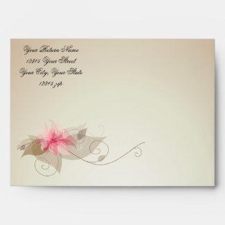 Lirio rosado floral sobre