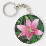 Lirio rosado llaveros personalizados