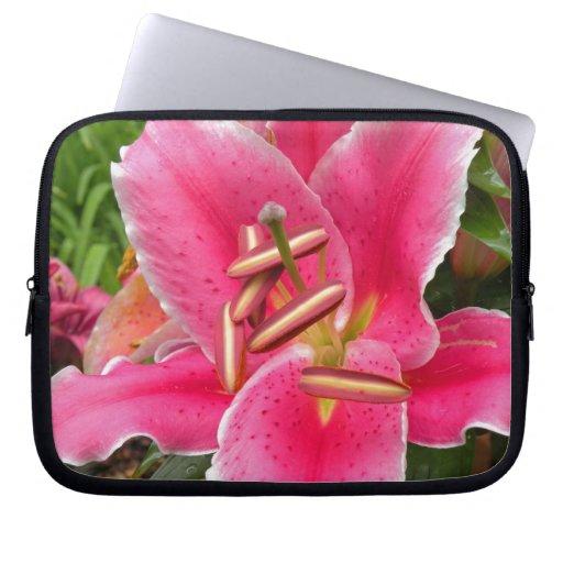 Lirio rosado mangas computadora