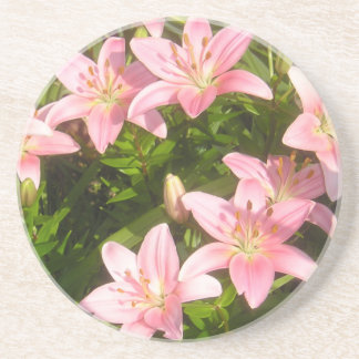 Lirio rosado posavasos manualidades