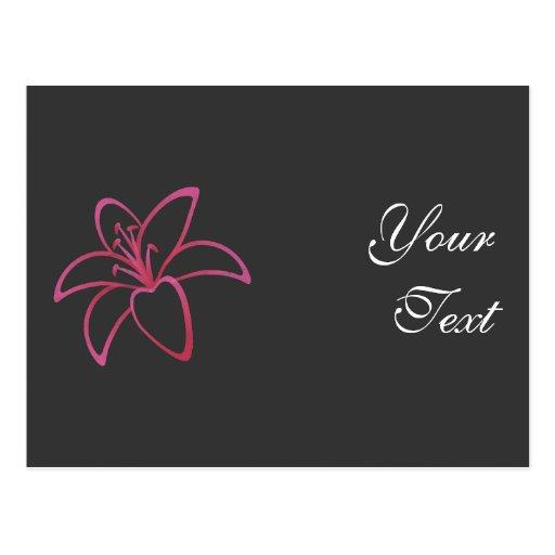 Lirio rosado tarjeta postal
