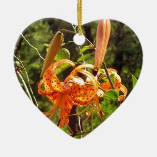 Lirio tigrado anaranjado ornamento de reyes magos