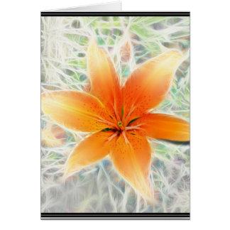 Lirio tigrado anaranjado tarjetas