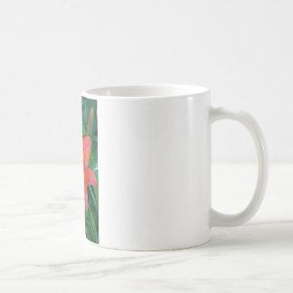 Lirio tigrado anaranjado taza de café