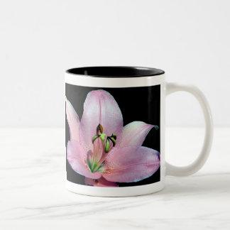 Lirio tigrado llamativo taza de café