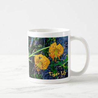 Lirio tigrado taza de café