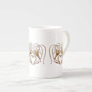Lirio tigrado taza de porcelana