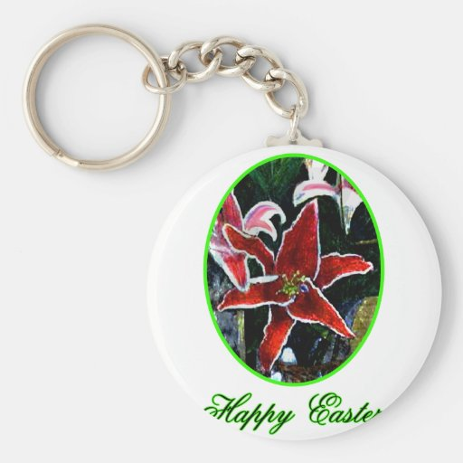 Lirio tigrado verde feliz de Pascua o El MUSEO Zaz Llaveros Personalizados