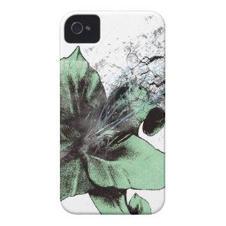 Lirio verde iPhone 4 Case-Mate cárcasa