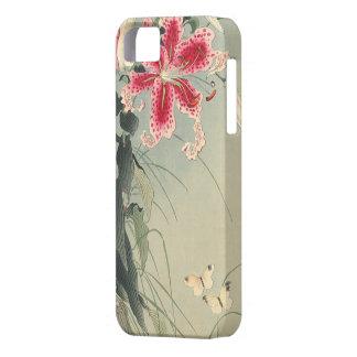Lirio y mariposas de Ohara Koson iPhone 5 Protector