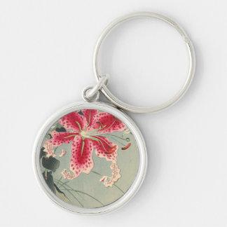 Lirio y mariposas de Ohara Koson Llaveros Personalizados