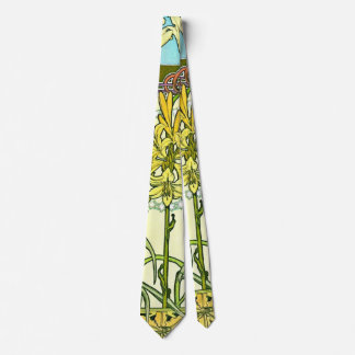 Lirios 1901 de Nouveau del arte Corbatas Personalizadas