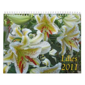 Lirios, 2011 calendarios