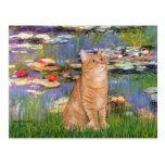 Lirios 2 - Gato de Tabby anaranjado 46 Postal