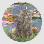Lirios 2 - Gato noruego del bosque Etiqueta Redonda