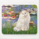 Lirios 2 - Gato persa blanco Alfombrillas De Raton