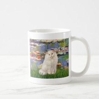 Lirios 2 - Gato persa blanco Taza De Café