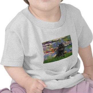 Lirios 2 - Gato persa (negro) Camisetas