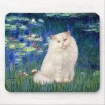 Lirios 5 - Gato persa blanco Alfombrillas De Ratones