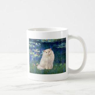 Lirios 5 - Gato persa blanco Taza De Café