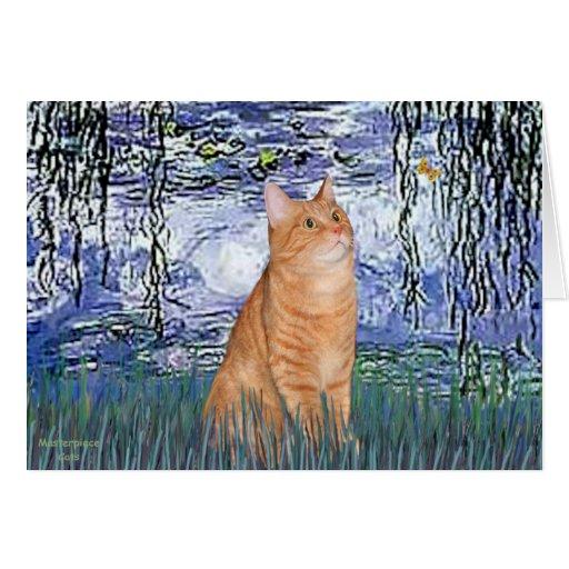 Lirios 6 - Gato de Tabby anaranjado 46 Tarjeta De Felicitación