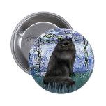 Lirios 6 - gato persa negro pins