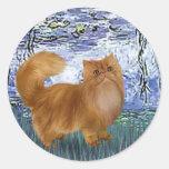 Lirios 6 - Gato persa rojo Pegatina