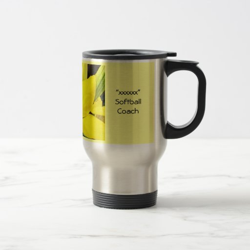 Lirios amarillos de las tazas de café de los regal