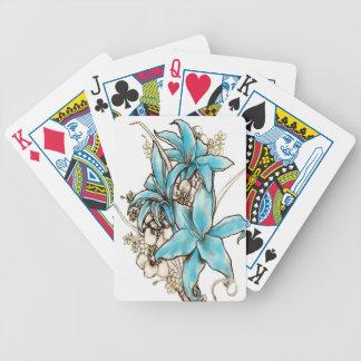 Lirios azules cartas de juego