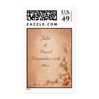 Lirios beige del vintage que casan reserva la sello