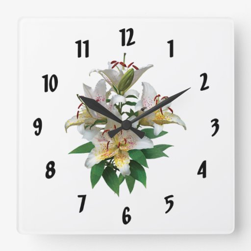 Lirios blancos agraciados reloj