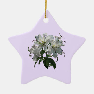 Lirios blancos ornamento para arbol de navidad