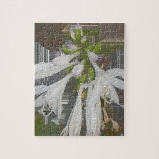 Lirios blancos puzzle con fotos