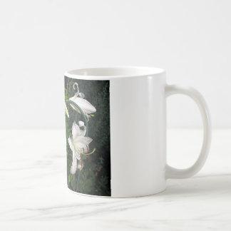Lirios blancos taza