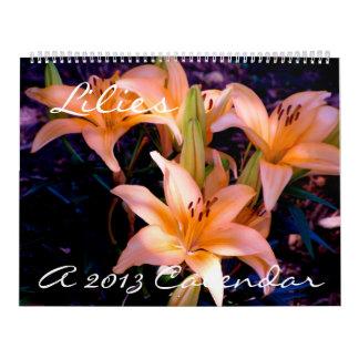 Lirios - calendario 2013