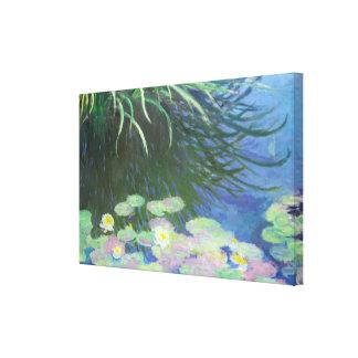 Lirios con las reflexiones altas Claude Monet de Impresión En Lienzo