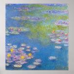 Lirios de agua amarilla de Monet Posters