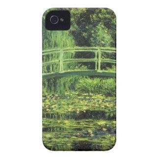 Lirios de agua blanca de Monet, impresionismo del iPhone 4 Carcasa