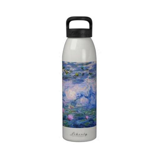 Lirios de agua botellas de agua reutilizables