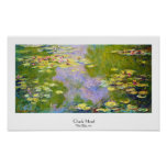 Lirios de agua, Claude Monet 1919 Posters