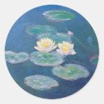 Lirios de agua - Claude Monet Etiqueta