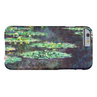 Lirios de agua Claude Monet fresco, viejo, Funda Barely There iPhone 6