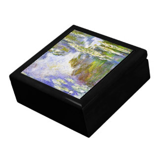 Lirios de agua Claude Monet fresco, viejo, princip Cajas De Regalo