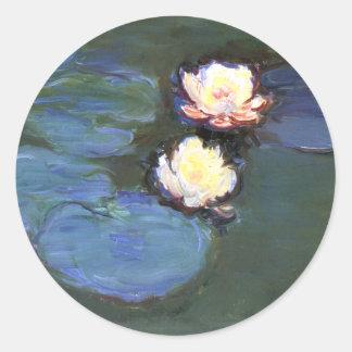 Lirios de agua Claude Monet Pegatinas