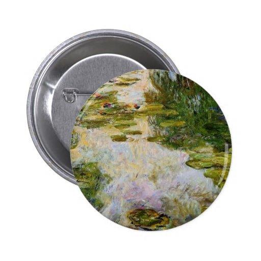 Lirios de agua - Claude Monet Pin Redondo 5 Cm
