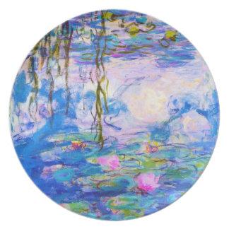 Lirios de agua Claude Monet Platos