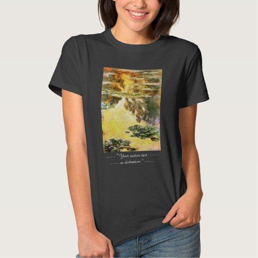 Lirios de agua Claude Monet Playeras