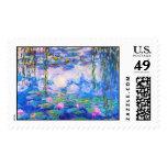 Lirios de agua Claude Monet Sello