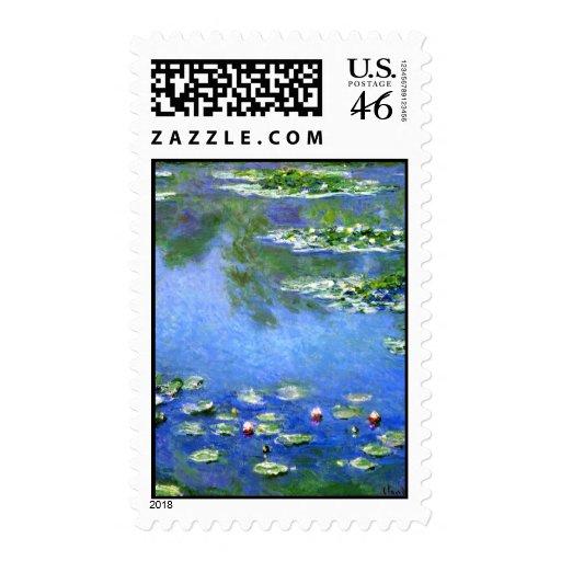 Lirios de agua, Claude Monet Franqueo