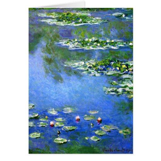 Lirios de agua, Claude Monet Tarjetón